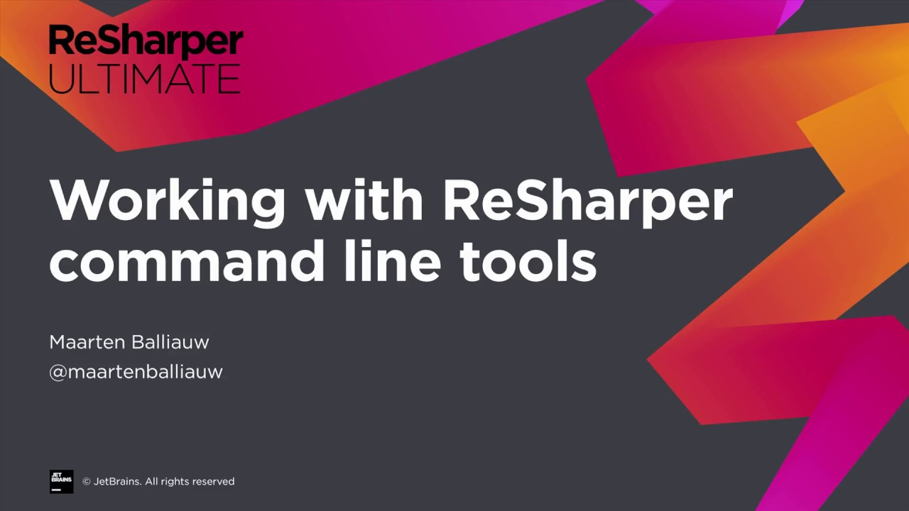 Working with ReSharper Command Line Tools