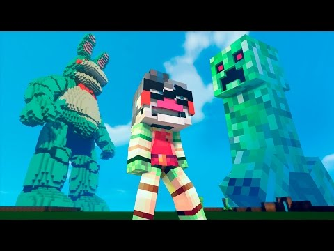 Minecraft FNAF vs Mobs: GIGA BONNIE vs GIANT CREEPER! (Five Nights at Freddy's Superheroes Roleplay)