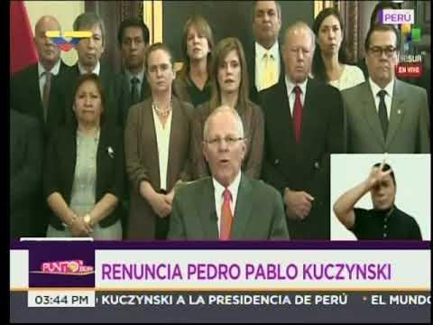 Discurso de renuncia del Presidente de Perú, Pedro Pablo Kuczynski