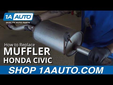 How to Replace Muffler 01-05 Honda Civic