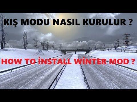 Euro Truck Simulator 2 Kar Modu Nasıl Kurulur/How to İnstall Winter Mod ?