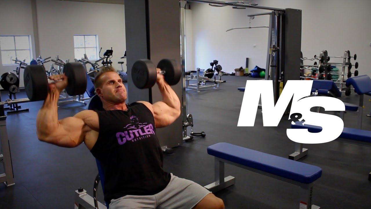 Jay Cutler S Training Tips Dumbbell Shoulder Press Technique Youtube