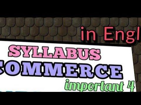 Commerce's syllabus in English for lt grade teacher recruitment