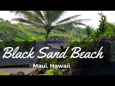 Beautiful Black Sand Beach in Maui Hawaii! - Waianapanapa State Park