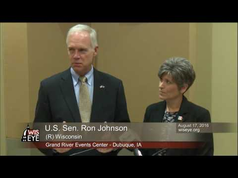 Morning Minute:  Sen Ron Johnson (R-WI) at Field Hearing in Dubuque, IA