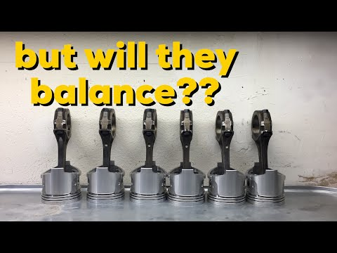 How to balance pistons and connecting rods and assembly