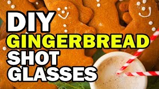 🤶 DIY Gingerbread Shot Glass Challenge