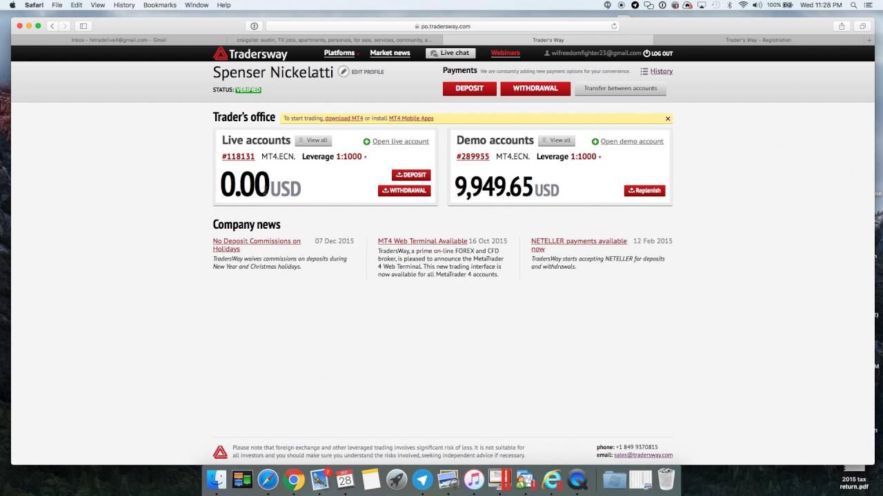 Tradersway Tutorial Youtube