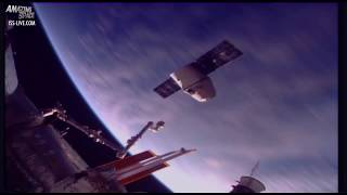 SPACEX Dragon leaving the ISS - International Space Station Timelapse video