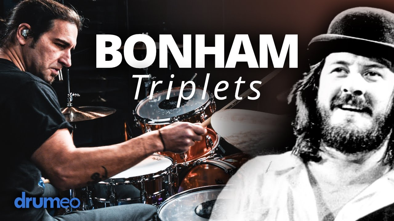 Download How To Play John Bonham Triplets (Drum Lesson)