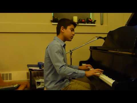 Rylan plays Invention #8 in F Minor www musicisfun ca
