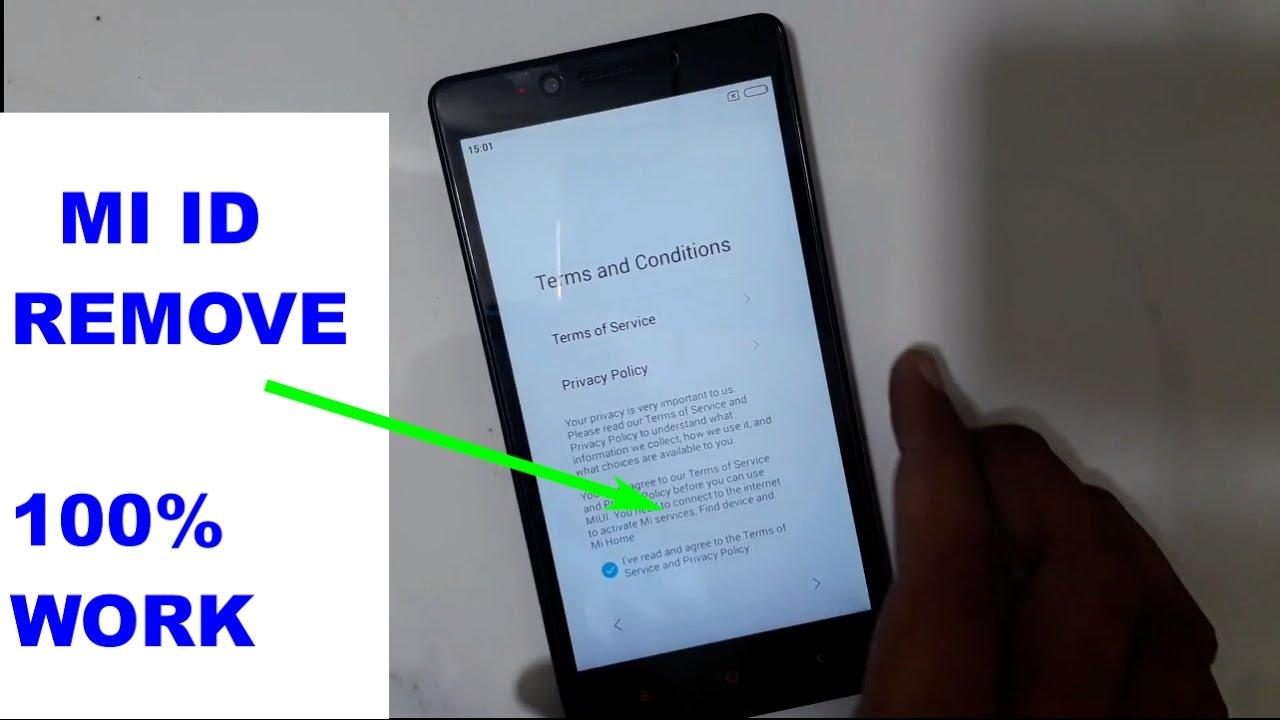 Mi Note 4g 2014912 Mi Account Id Remove Frp Reset Youtube