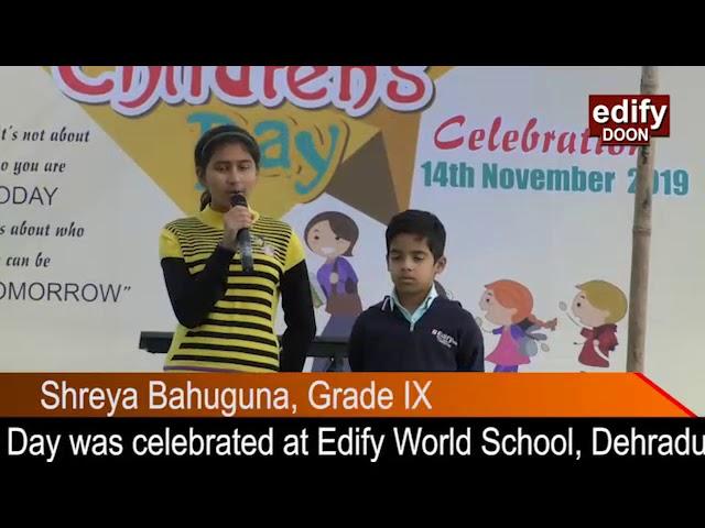 Children's Day celebration 2019, Edify world school, Dehradun