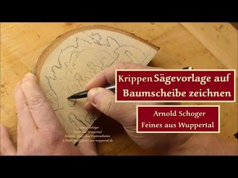 Krippen #Sägevorlage Auf #Baumscheibe Zeichnen