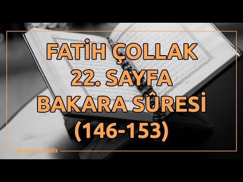 Fatih Çollak - 22.Sayfa - Bakara Suresi (146-153)