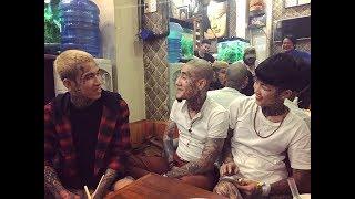 Dế Choắt Châu Hải Minh ghé thăm tiệm xăm vui vẻ thăm Phạm Mai Đăng Vinh :P