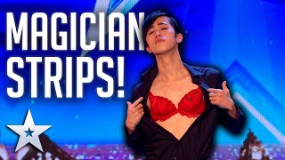 Unforgettable Audition: Sora STRIPS OFF for a MAGICAL reveal! | Britain's Got Talent