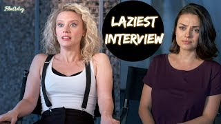 The Spy Who Dumped Me - Laziest Interview Ever Given by Mila Kunis & Kate McKinnon