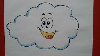 como dibujar una nube paso a paso how to draw a cloud