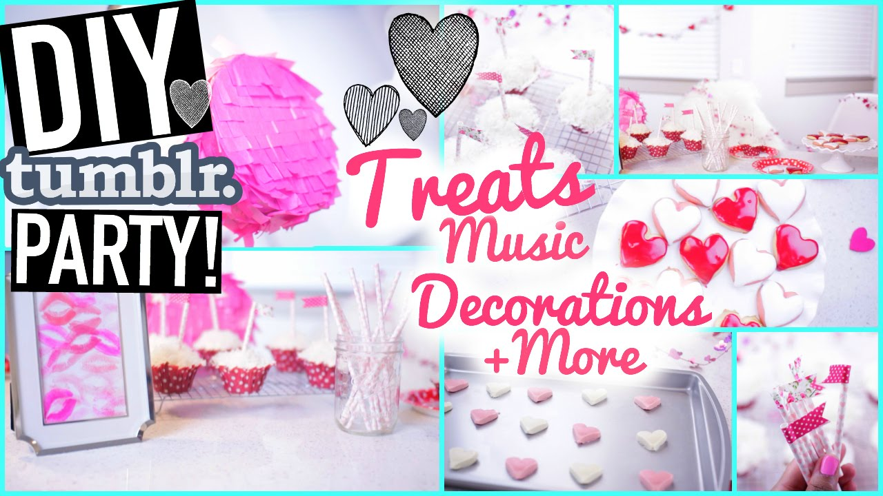 DIY Valentines Day Party Decorations and Treat Ideas - YouTube