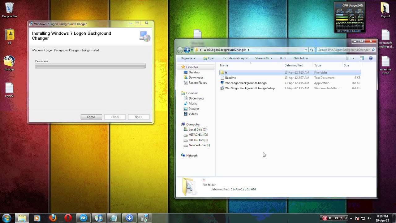How to change windows 7,8,vista and xp Logon Background Change (2013)