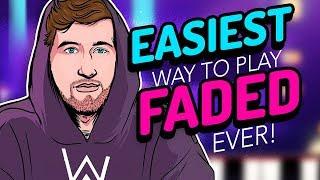 Faded - Alan Walker - Easiest Piano Tutorial