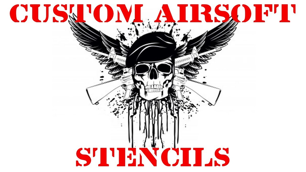 Custom Made Airsoft Gun Stencils And Decals Airsoftstencils Com Is Now Open