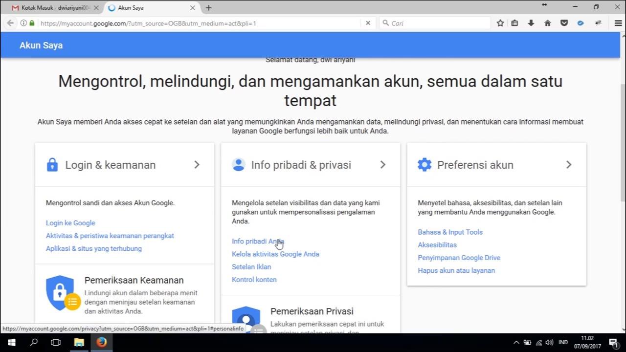 Membuat Email Pemulihan Sebelum Lupa Password Gmail Youtube