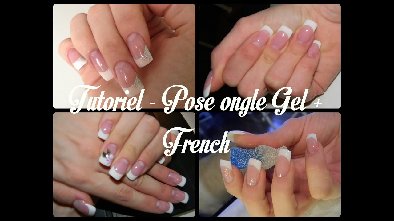 Connu TUTORIEL - Pose Ongle Gel + French - YouTube NG86