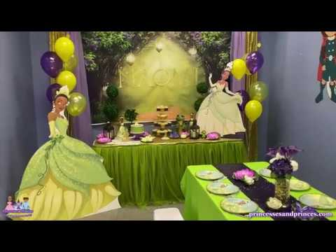 Princess And The Frog Tiana Birthday Party Princesses Princes Ocoee Winter Garden Windermere Youtube