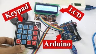 keypad and LCD interfacing with arduino in bangla