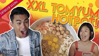 XXL Tom Yum Seafood Hot Pot (Halal) | Eatbook Vlogs | EP 54