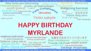 Myrlande   Languages Idiomas - Happy Birthday
