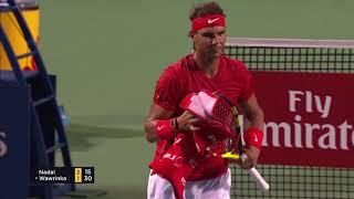 Rafael Nadal Turns Court Cleaner Toronto 2018