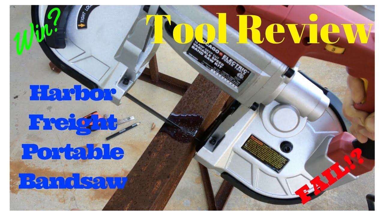 Review of Harbor Freight portable bandsaw, and the easiest bandsaw stand on  the web  FarmCraft101