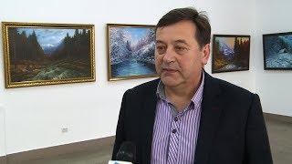 В Івано-Франківську презентували виставку коломийського художника Володимира Бойківа