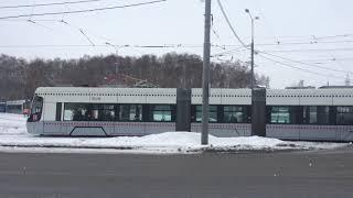 Обрыв контактной сети на линии трамваем в Строгино.