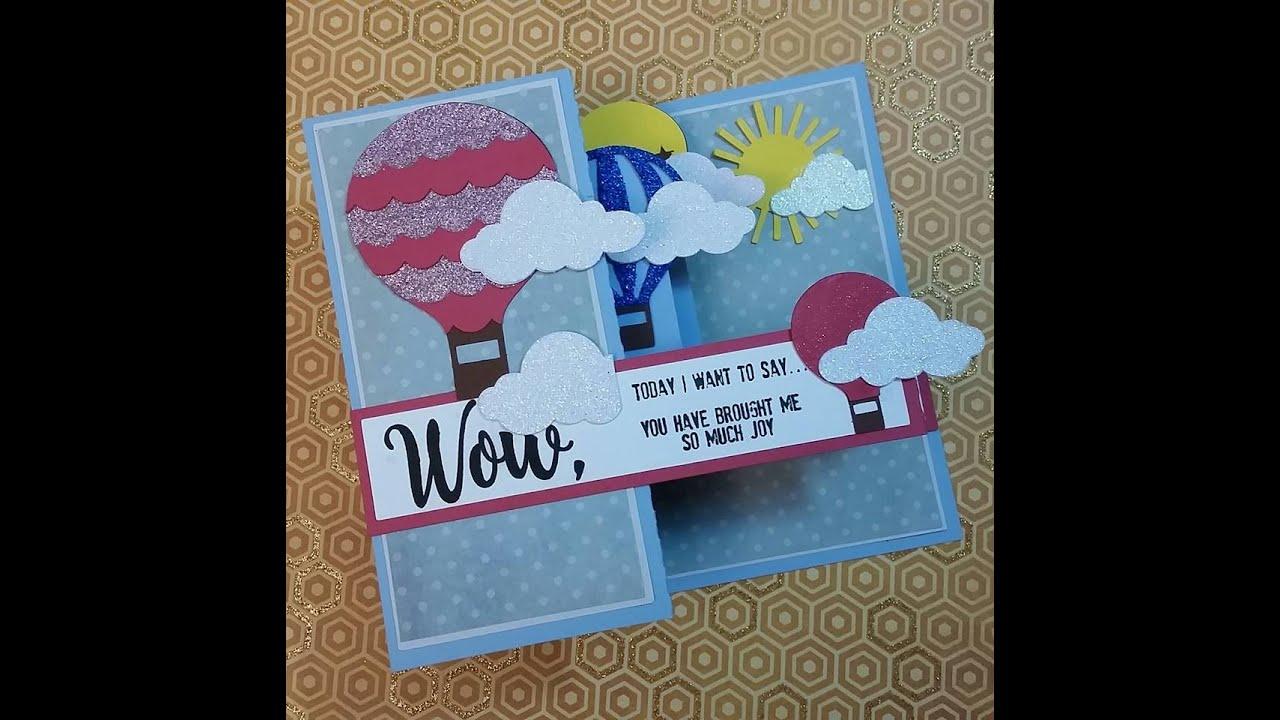 2016 POP UP BOX CARD HOT AIR BALLOON LORI WHITLOCK YouTube