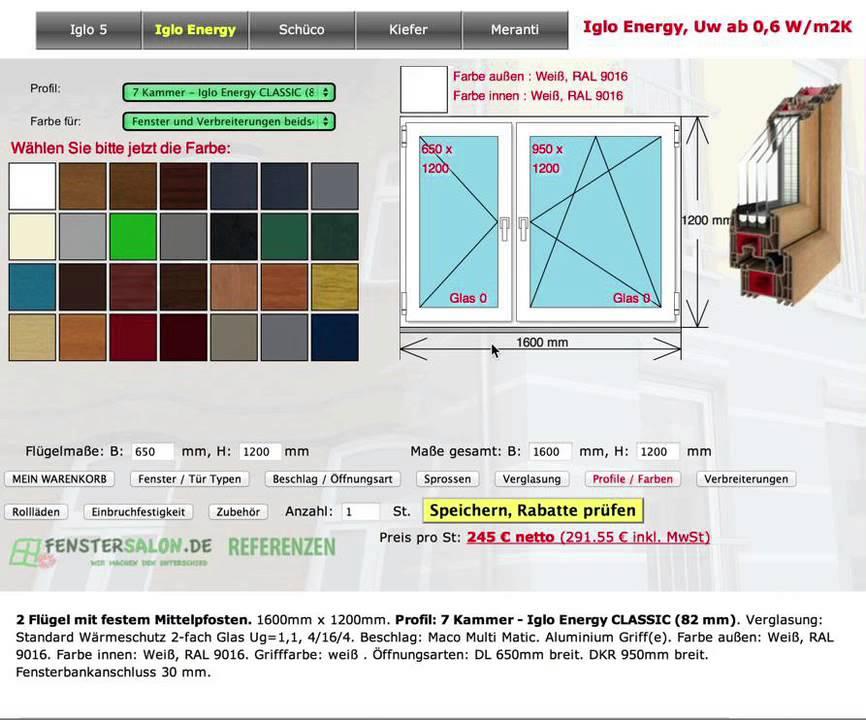 Fenstersalon.de, der beste Fenster Konfigurator im Netz - YouTube