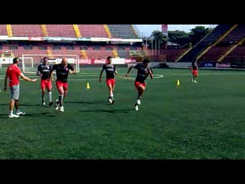 Circuito para treinamento em futebol