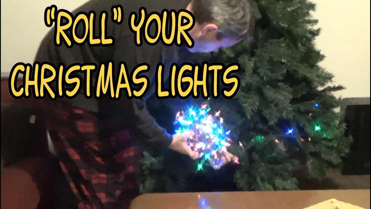 why you should roll christmas lights into a ball before storing them
