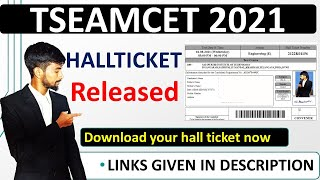 how to download ts eamcet hall ticket  Tseamcet 2021 hall tickets released download now 