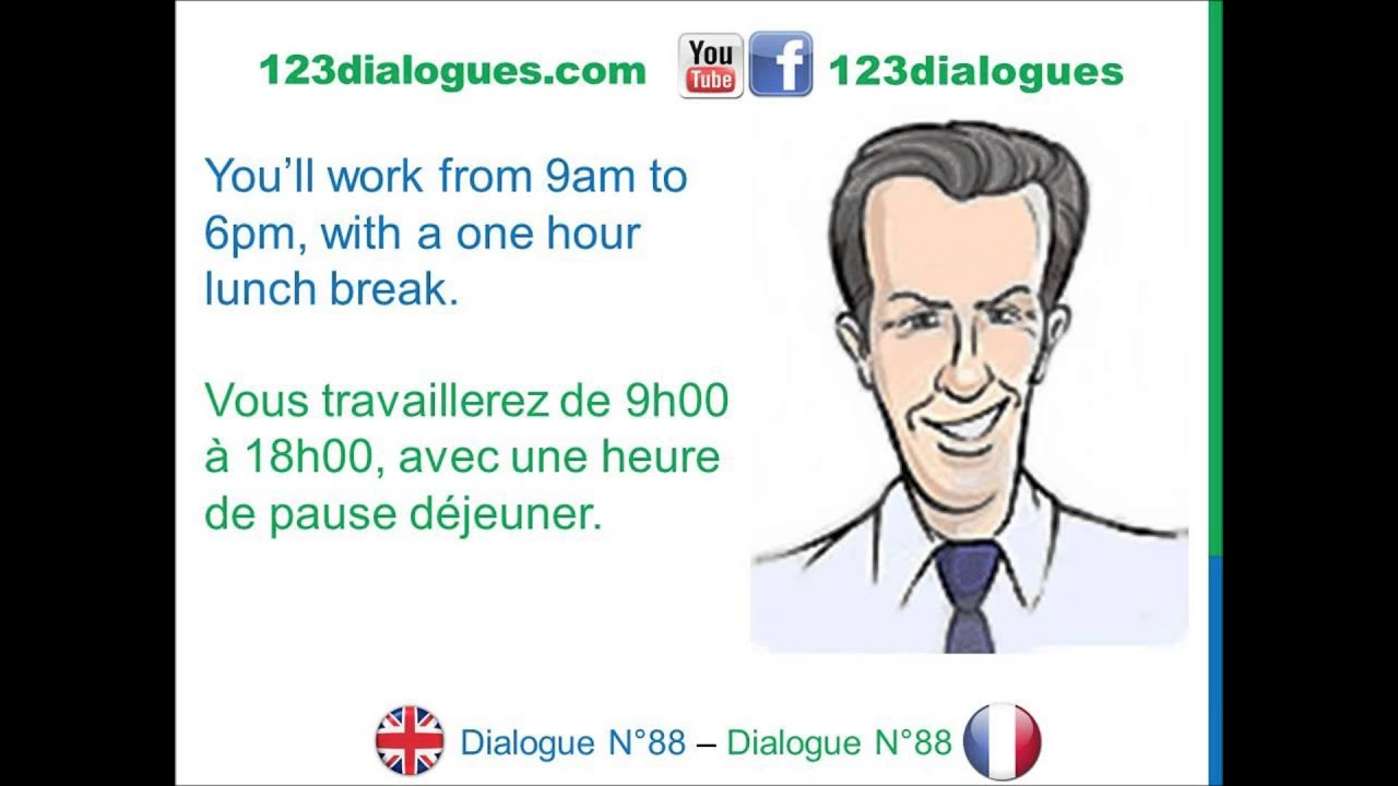dialogue 88 - english french anglais- apply for job interview