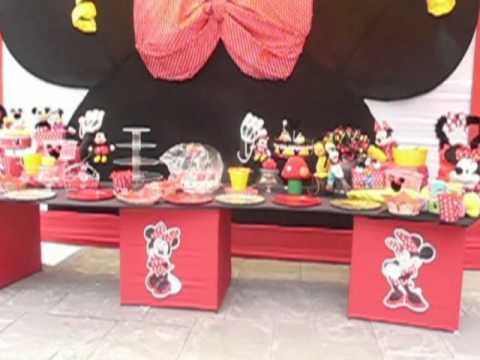 Decoraci n de minnie mouse roja en decoraciones for Decoracion de minnie mouse