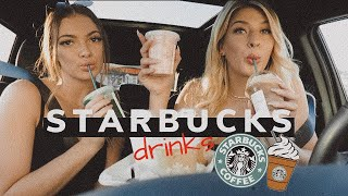 Trying Your Starbucks Drinks!