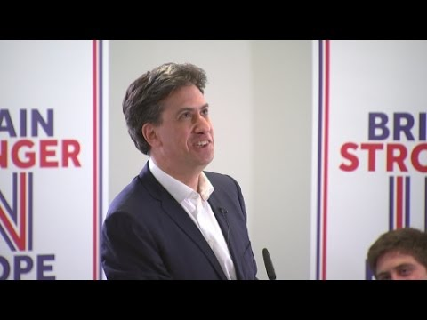 Joey Essex's EU question leaves Ed Miliband stumped