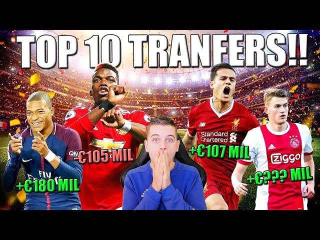 TOP 10 VOETBAL TRANSFERS MET HET MEESTE WINST/VERLIES!!