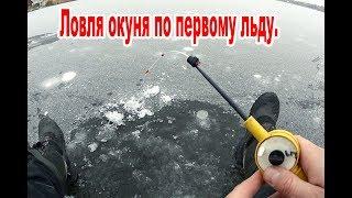 Зимняя рыбалка по первому льду. Нашел стаю окуня! Бешеный клев.