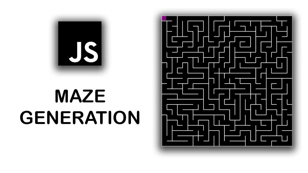 JavaScript Maze Generation (Depth First Search) Tutorial