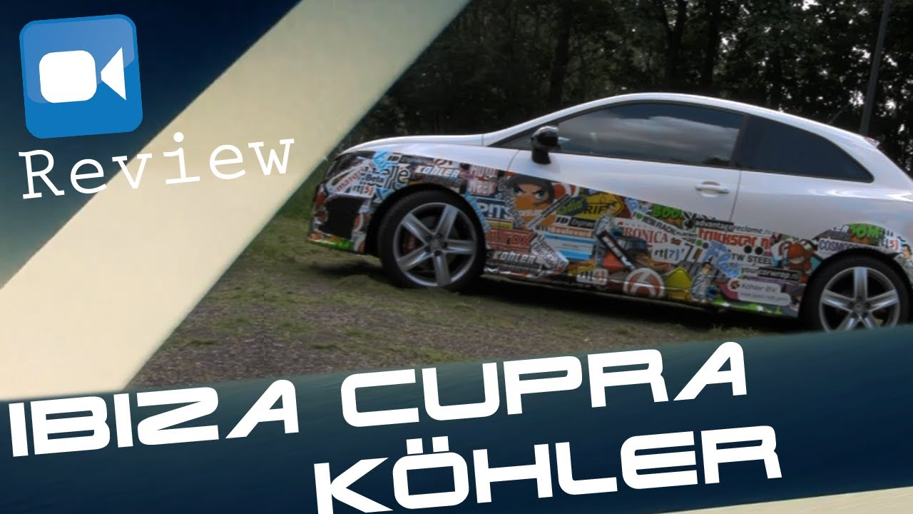 seat ibiza cupra k hler 270 hp review english subtitles. Black Bedroom Furniture Sets. Home Design Ideas
